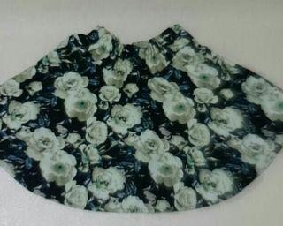 花柄 ミニスカート