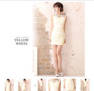 【JEWELS】サテン×レース肌魅せタイトミニキャバドレス