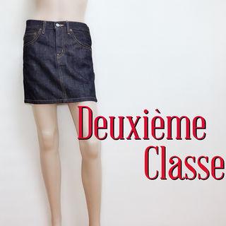 必需品ドゥーズィエムクラス しっかりデニムスカート