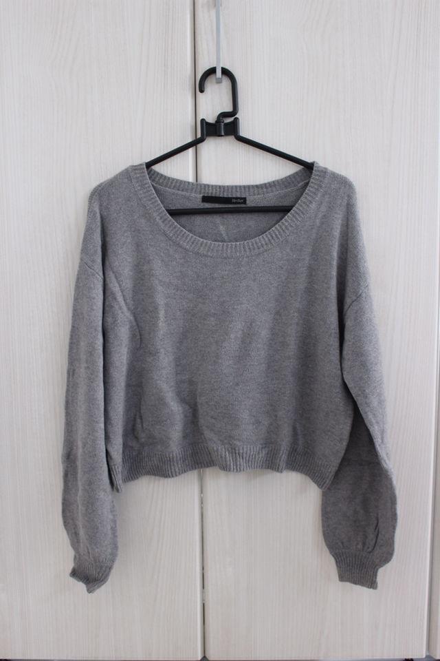 ニット ヘザー 長袖 セーター
