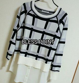BLISSPOINT 裾シフォントップス
