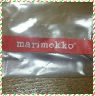 marimekkoのショップリボン
