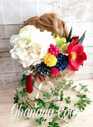 花柳 芍薬と椿の和装髪飾り12点Set No300