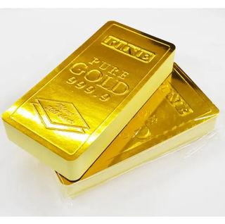 [本物そっくり・2個セット]金塊ゴールドバー/メモ帳400枚