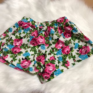 花柄 キュロット インナーパンツ スカートパンツ スカパン