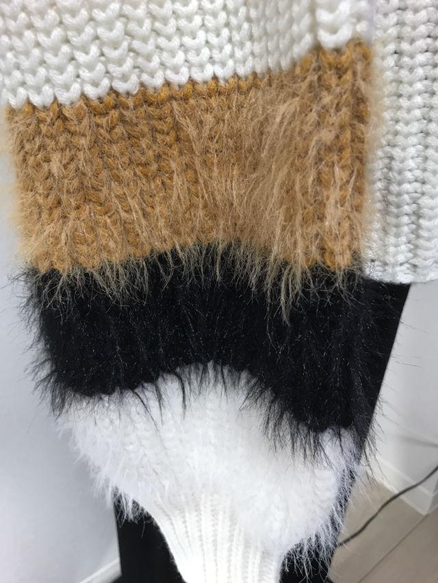 ゆるふわニット バルーン袖 タートルネックオーバサイズ G4