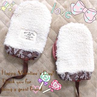 【新品】ミトン 手袋 定価2415円 キッズ ベビー 冬服