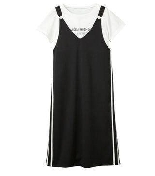 サイドラインワンピース+Tシャツ