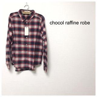114chocal raffine robe チェック柄