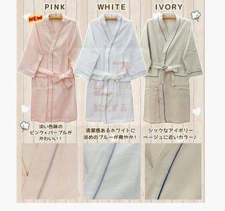 新品~男女兼用バスローブ2色セット ルームウエア