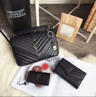 国内発送 ショルダーバッグ+財布+キーケース
