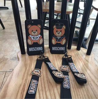 moschino iphoneケース 可愛 小熊 2枚