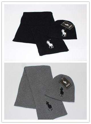 佐川発送 冬の人気ニット帽とマフラー 2セット