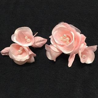 新品お花の髪飾りとミニコサージュのセット