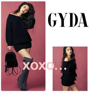 新品 GYDA オフショルニット ワンピース
