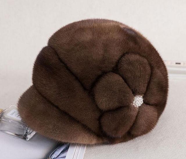 HT-M-05 ミンクファー ハット レディースミンク帽子