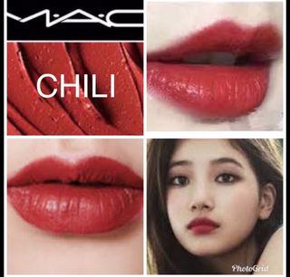 チリ 大人気カラー MAC リップ 口紅