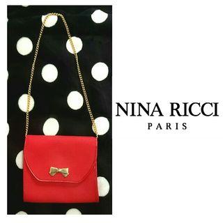 新品vintageニナリッチリボン刺繍ゴールドチェーンバッグ