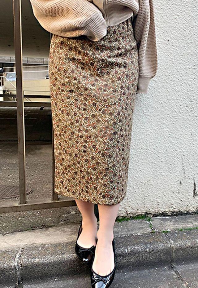 アソート柄ナロースカート