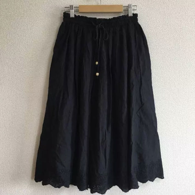 ドビードットミディアム丈スカート