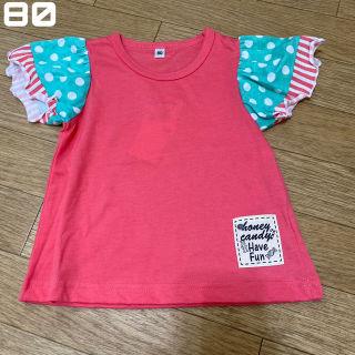 新品未使用 袖フリル Tシャツ