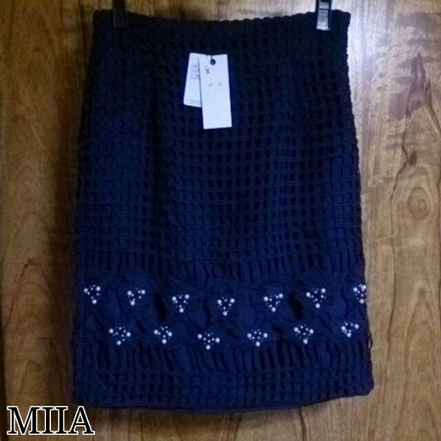 MIIA*カットワークタイトスカート(MiiA(ミーア) ) - フリマアプリ&サイトShoppies[ショッピーズ]