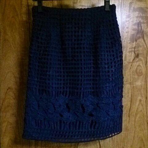MIIA*カットワークタイトスカート