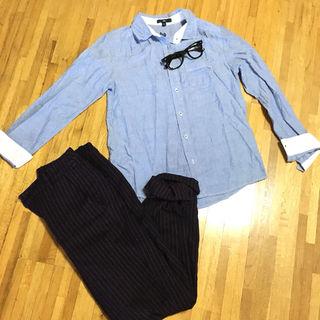 GAP デニムカラーシャツ XSサイズ