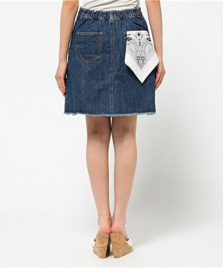 OLIVEdesOLIVEポケットバンダナ付台形スカート