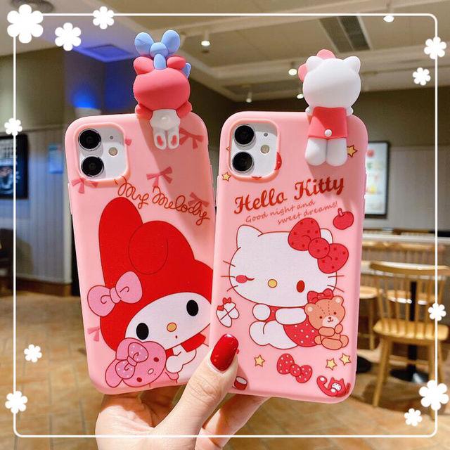 iPhone Galaxy キティ マイメロ 人形付き