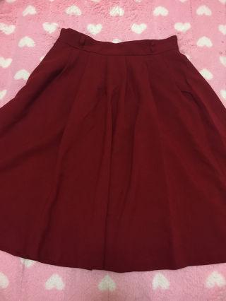 赤 スカート  ハニーズ
