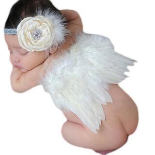まるで天使 ベビー用 着ぐるみ コスプレ ヘアバンド付き