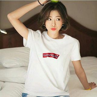 二着5000 高品質新品シュプリームTシャツ男女兼用2色