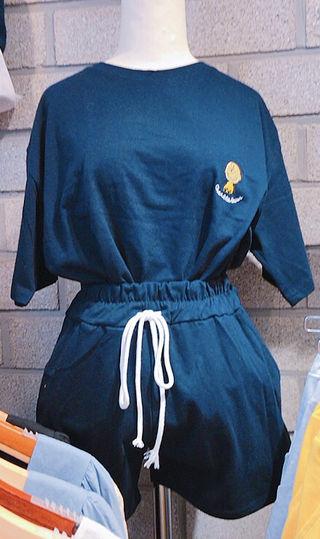 新品 スヌーピー 刺繍 韓国 セットアップ