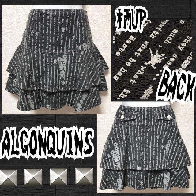 【ALGONQUINS 】ロゴ&デビッド総柄フリルヒラミニ(ALGONQUINS(アルゴンキン) ) - フリマアプリ&サイトShoppies[ショッピーズ]