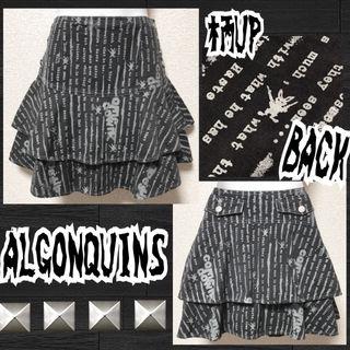 【ALGONQUINS 】ロゴ&デビッド総柄フリルヒラミニ