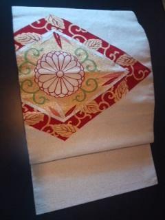 キラキラ古典柄ナゴヤ 綴れ織りチョー美品正絹