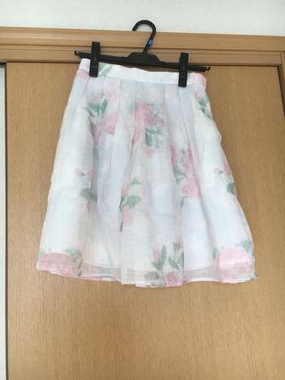 リランドチュール 花柄ぼかしスカート