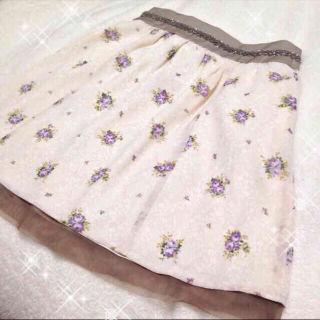 アプワイザーリッシェ 花柄 スカート