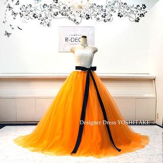 ウエディングドレス(パニエ無料) オレンジAライン