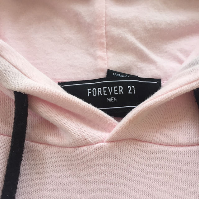 forever21 ロゴ ピンク パーカー