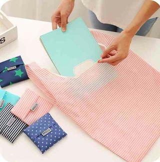 便利 折り畳み 買物袋 バッグ エコバッグ  ピンク