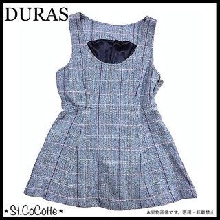 DURAS オーバーチェック ツイード TOPS