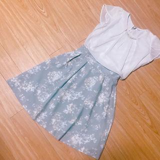 mirche 花柄フレアスカート