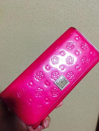 クレイサス ピンクがま口長財布