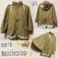 【earth music&ecology】ポンチョ風ブルゾン