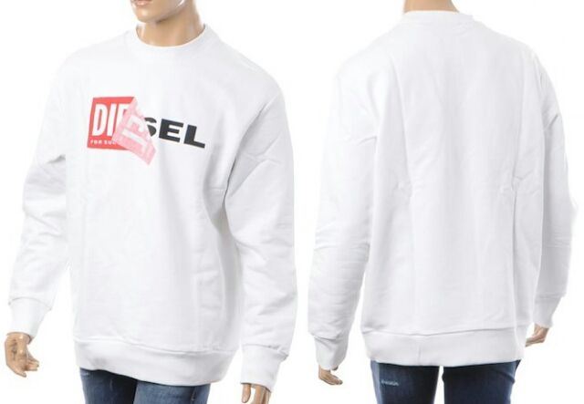 Diesel スウェット ロゴ ホワイト L ディーゼル