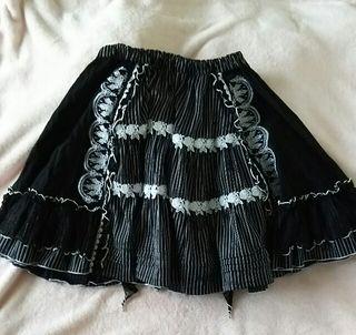 FRILL ストライプ柄スカート