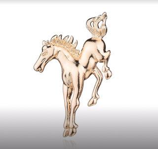 乗馬 馬ブローチ ゴールド