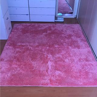 シャギーカーペット ピンク